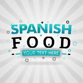 Green Logo For Spanish Food. For Food Cover App, Booking Restaurant, Food Websites, Recipe Food, Fin poster