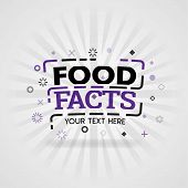 Purple Logo For Food Facts. For Food Cover App, Booking Restaurant, Food Websites, Recipe Food, Fing poster