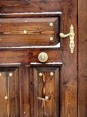 an architectural detail of a ruinous door