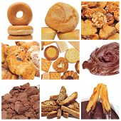 a collage of nine pictures of different pastries and bakery items