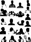 Silhouette Of Teens Background