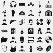 Good Profession Icons Set. Simple Style Of 36 Good Profession Icons For Web For Any Design poster