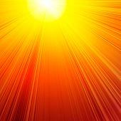 Постер, плакат: Горящий красное солнце