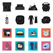 Bitmap Illustration Of Dreams And Night Sign. Collection Of Dreams And Bedroom Stock Bitmap Illustra poster