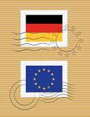 Flag Of Germany And European Union