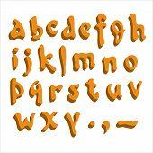 Alfabeto naranja.