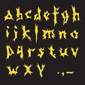 Alfabeto amarillo.