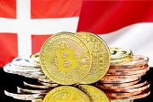 Concept For Investors In Cryptocurrency And Blockchain Technology In The Denmark And Monaco. Bitcoin poster