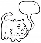 cartoon cat with speech bubble