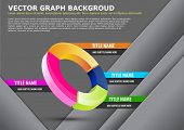 Vector business background with graph and tabs for text