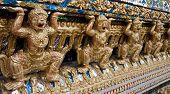 picture of hanuman  - Gold statue of Hanuman - JPG