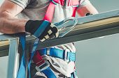 Safety Harness. Construction Industry Protection Equipment. Safety Object. poster