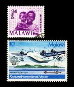 Two stamps from African country Malawi
