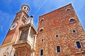 Details of Piazza Signori in Verona Italy