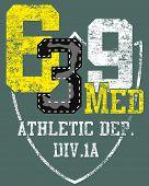 Sports number design