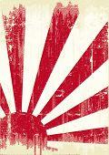 Grunge Japan flag.  An old japan grunge flag for you
