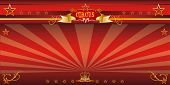 Red invitation circus. An invitation card for your circus company.