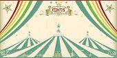 Tarjeta de circo vintage. Una tarjeta de invitación para su compañía de circo.