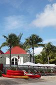 Morning at Eden Rock hotel at St Barth, French West Indies.