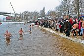 Kiev - Jan 19: Epiphany (kreshchenya) Morning In Hydropark On January 19, 2013 In Kiev, Ukraine.