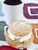 Cream Bun And Coffee