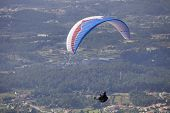 CALDELAS, PORTUGAL - OCTOBER 13: Paragliding Aboua Cup, in the north of Portugal, October 13, 2012, Caldelas, Portugal.