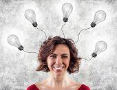Head With Lightbulbs