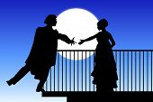 picture of juliet  - silhouette of Romeo and Juliet balcony scene - JPG