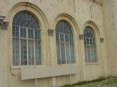 Old Building Curved Windows poster