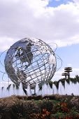 1964 New York World fair Unisphere in flushing Meadows park