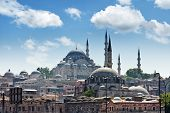 istanbul cityscape in summer time