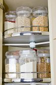 Grain In Glass Food Storage Jar