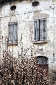 Old house with crumbling facade, Italian Architecture - Emilia Romagna
