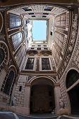 Courtyard of palazzo, Italian Architecture - Rome