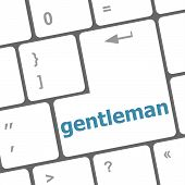 Gentleman Button On Computer Pc Keyboard Key