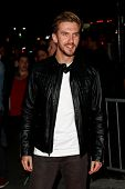 NEW YORK-SEP 18: Actor Dan Stevens attends the Ferrari & The Cinema Society screening of 'Rush' at C