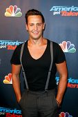 NEW YORK-AUG 28: Singer Branden James attends the post-show red carpet for NBC's