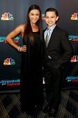 NEW YORK-AUG 28: Dancers D'Angelo Castro and Amanda Carbajales attend the post-show red carpet for NBC's
