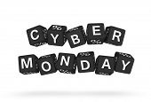 stock photo of dice  - Cyber Monday design element - JPG