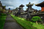 Buildings in a largest Balinese temple Pura Besakih. Indonesia