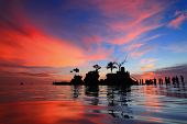 picture of boracay  - beautiful sunset and sea with tourist shot in Boracay Philippines Willy - JPG