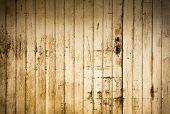 stock photo of lumber  - Vintage Wood plank brown texture background - JPG