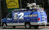 WCBS Channel 2 van in midtown Manhattan