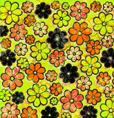 Psychedelic Graffiti Flower Art Pattern