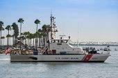 US Coast Guard patrol boat in the Long Beach