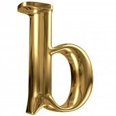3d golden letter collection - lowercase b