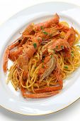 scampi pasta with tomato cream sauce