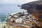 Huts at the coast of El Hierro, Canary Islands