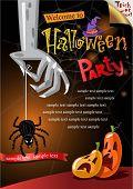 Halloween Poster. Vector illustration.