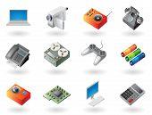 Isometric-style Icons For Electronics